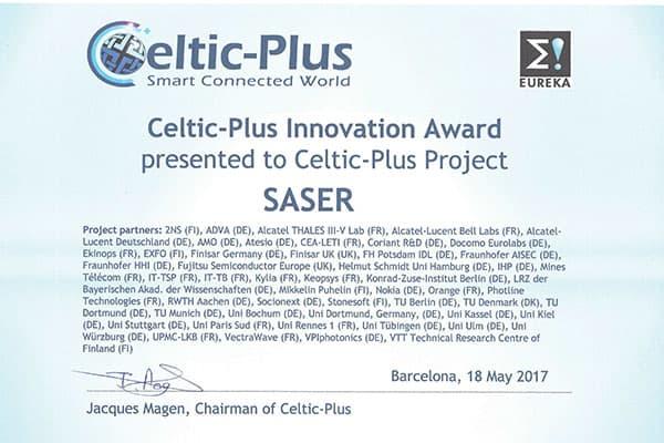 Turva.io:n kehitysprojektille myönnettiin Celtic Innovation Awards